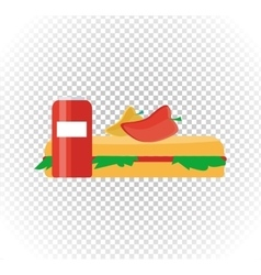 Fast Food Burger and Drink Flat Design vector