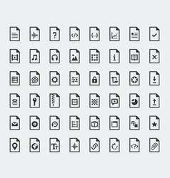 File formats and types icon set vector