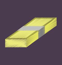 Flat shading style icon bundle of money vector