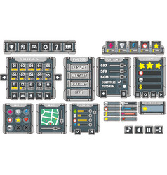 Game gui 9 vector