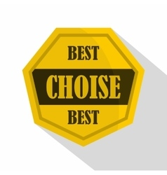 Golden best choise label icon flat style vector