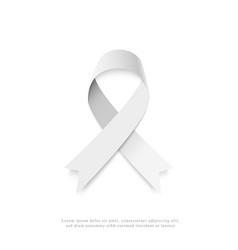 gray ribbon vector image