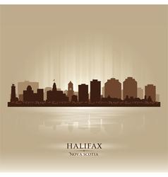 Halifax Canada skyline city silhouette vector