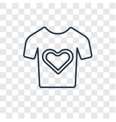heart shaped clothes concept linear icon isolated vector image