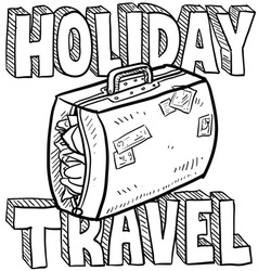 Holiday and travel vector image
