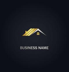 home rorealty company gold logo vector image