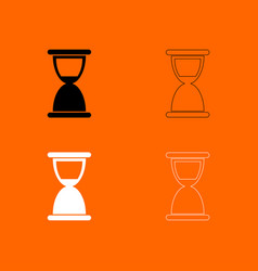 Hourglass black and white set icon vector