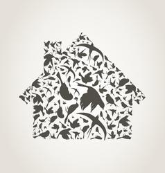 House a bird vector