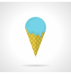 Ice cream cone flat color icon vector image