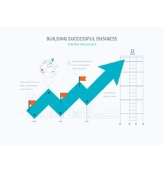 Infographic business arrow shape template design vector image