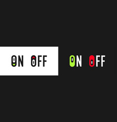 inscription on and off icon switch vector image