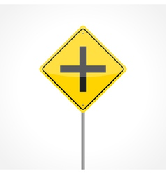 Intersection ahead vector image
