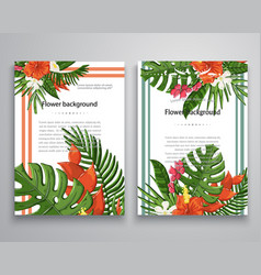 Invitations or announcements tropical vector