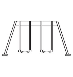 isolated playground swing icon vector image