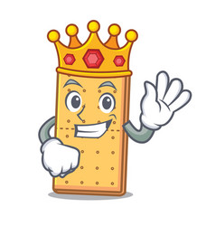 King graham cookies mascot cartoon vector