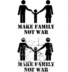 make family not war vector image