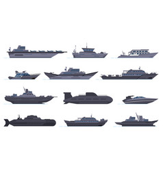 military ships battle combat boats missile ship vector image