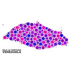 mosaic isla la tortuga map of circle dots vector image