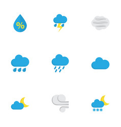 nature flat icons set collection of drop vector image