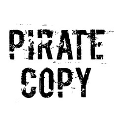 Pirate copy stamp on white background vector