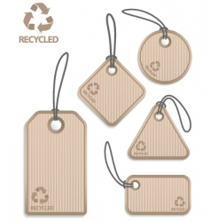 recycled paper tags vector image