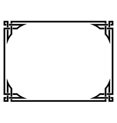 Roman style black ornamental decorative frame vector