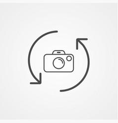 rotate camera icon sign symbol vector image
