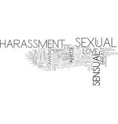 Sexual word cloud concept vector
