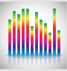 Single colorful eq equalizer element isolated on vector