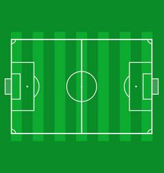 Soccer field green grass football court vector