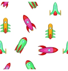 Spaceship pattern cartoon style vector