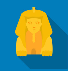 Sphinx icon in flat style isolated on white vector