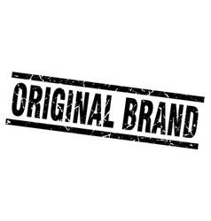 square grunge black original brand stamp vector image