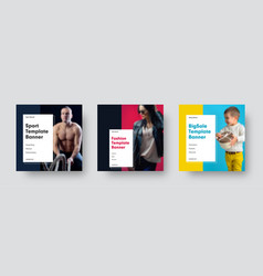 square modern banners templates for social vector image