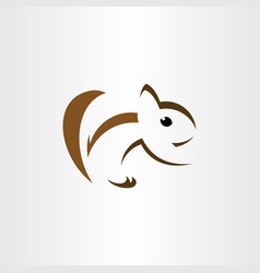 squirrel logo stylized icon sign vector image