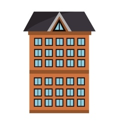 tall colorful building graphic vector image
