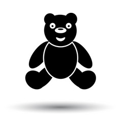 Teddy bear ico vector