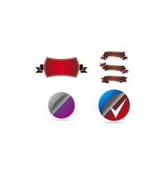 template emblem blank set vector image