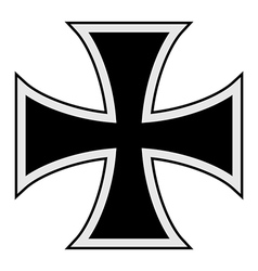 Teutonic cross vector image