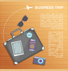 Travel concept plan cartoon style vector