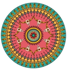 Tribal round ornamental background vector image
