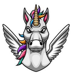 Unicorn mascot logo design vector