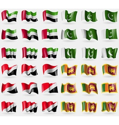 United arab emirates pakistan sealand principality vector