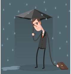 Unlucky Businessman vector