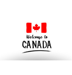 Welcome to canada country flag logo card banner vector