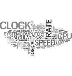 what is cpu speed text word cloud concept vector image