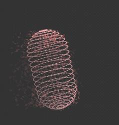 wireframe mesh cylinder vector image