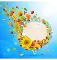 autumn vintage bubble vector image vector image