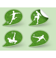 Collect Sticker with Football Players Icon vector image vector image