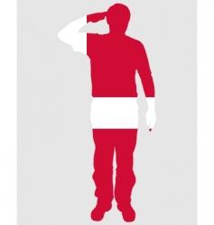 danish salute vector image